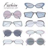 Fashion glasses set Royalty Free Stock Images