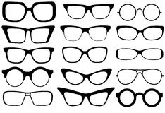 Fashion glasses. Set of modern fashion glasses. Vector illustration