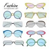 Fashion glasses set Royalty Free Stock Image