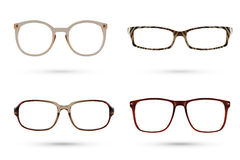 Fashion glasses style collections, use clipping path Stock Images