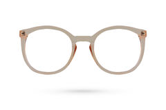 Fashion glasses style plastic-framed isolated on white backgroun Stock Photos