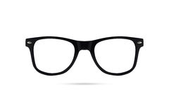 Fashion glasses style plastic-framed  on white backgroun. D Stock Images