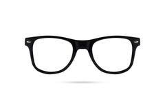 Fashion glasses style plastic-framed  on white backgroun Stock Images