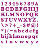 Fashion Glitter Pink Alphabet Royalty Free Stock Photos