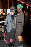 Fashion Goers attend Fall 2011 Fashion Week in NYC Stock Photos