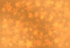Fashion Golden Yellow Blur Star Christmas Gift Background Patt stock illustration