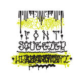 Fashion graffiti illustration Royalty Free Stock Images
