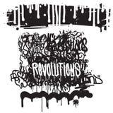 Fashion graffiti illustration Royalty Free Stock Photography