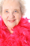 Fashion Granny. Isolated on white Royalty Free Stock Photos