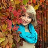 Fashion Gray-eyed Blond Woman Stock Images