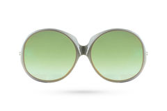 Fashion green glasses ant style  on white background. Stock Images