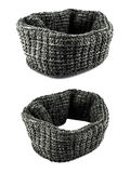 Fashion grey scarf for clothing isolated stock image