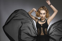 Free Fashion Grotesque Girl Stock Photo - 36817510