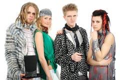 Fashion group. Shot of stylish model group in fashionable clothes stock image