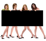 Fashion Group with Billboard Royalty Free Stock Images