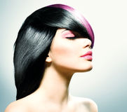 Fashion Hair. Hairstyle Royalty Free Stock Photos