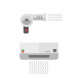 Fashion hairdryer tool vector Stock Image