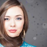 Fashion hairstyle. Beautiful woman with long straight hair Royalty Free Stock Photos