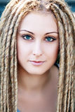 Fashion hairstyle with dreads Royalty Free Stock Photo