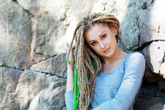 Fashion hairstyle with dreads Stock Image