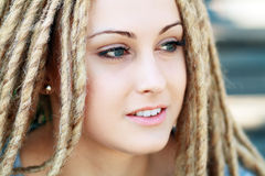Fashion hairstyle with dreads Stock Images