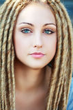Fashion hairstyle with dreads Stock Photography
