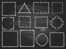 Fashion hand drawn frames set on a chalkboard vector illustration