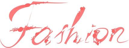 Fashion hand drawn word. Modern brush calligraphy on white background. Fashion hand drawn colorful word. Modern brush calligraphy on white background royalty free illustration