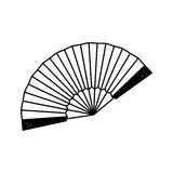 Fashion hand fan. Icon illustration graphic design stock illustration