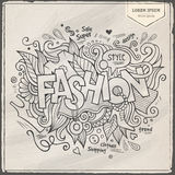 Fashion hand lettering and doodles elements Royalty Free Stock Images