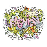 Fashion hand lettering and doodles elements Royalty Free Stock Photos