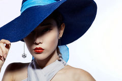 Fashion in hat a Royalty Free Stock Photo