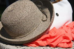 Fashion hat,handbag and scarves Royalty Free Stock Images