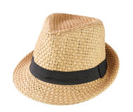 Fashion hat isolated on white background stock photography