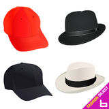 Fashion hat set vector Stock Photos