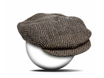 Fashion hat on white Royalty Free Stock Images