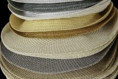 Fashion hats showcase on open market shop Royalty Free Stock Images