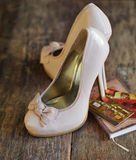 Fashion high heel shoes and credit cards Stock Images