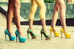 Fashion high heels shoes Royalty Free Stock Photos