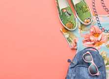 Fashion Hipster Accessories. Stylish Urban Outfit royalty free stock image