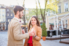 Fashion hipster couple Royalty Free Stock Photography