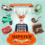 Fashion Hipster dear Stock Photos