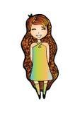 Fashion hipster girl Stock Photos