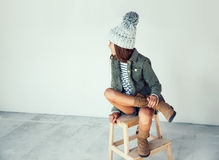 Fashion hipster girl Royalty Free Stock Image