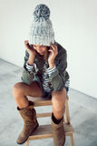 Fashion hipster girl Stock Image