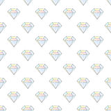 Fashion hipster seamless pattern with diamonds. Rhinestones design tiles Royalty Free Stock Images