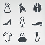 Fashion icon set Stock Image