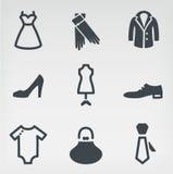 Fashion icon set stock illustration