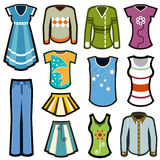 Fashion icon set Stock Images