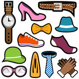Fashion icon set Royalty Free Stock Photography